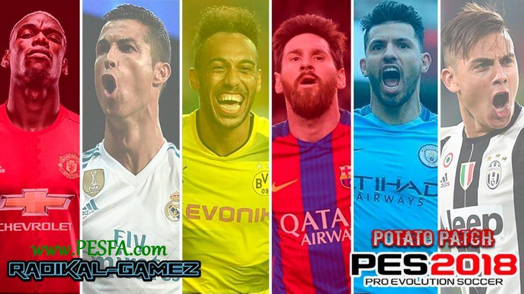پچ Potato v1 برای PES 2018 (مخصوص PS3)