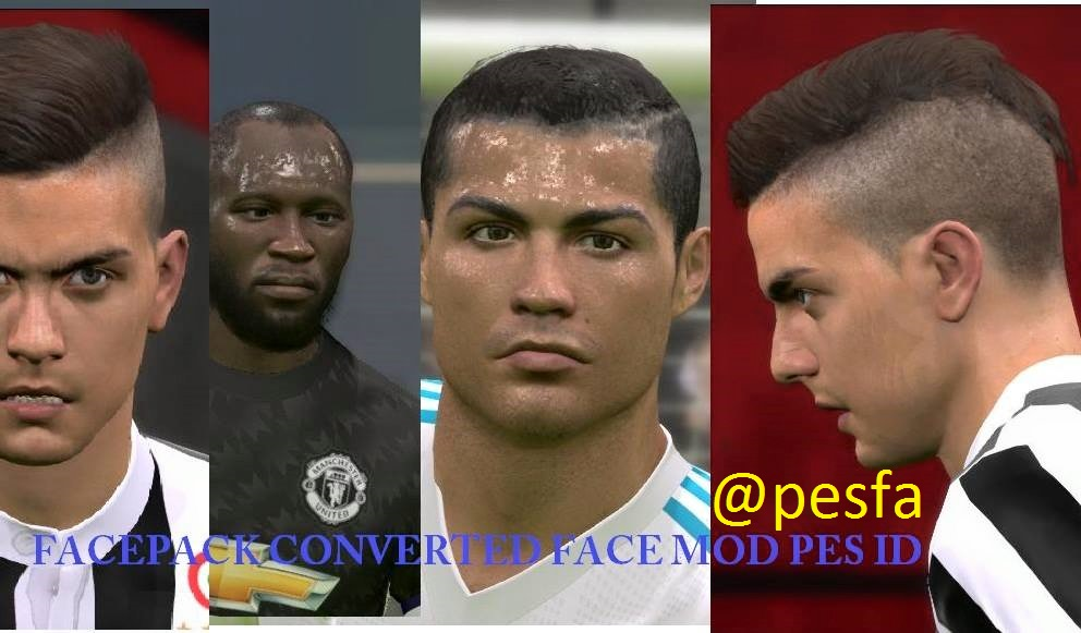 فیس پک Forwards توسط Face Mod Pes ID برای PES 2017