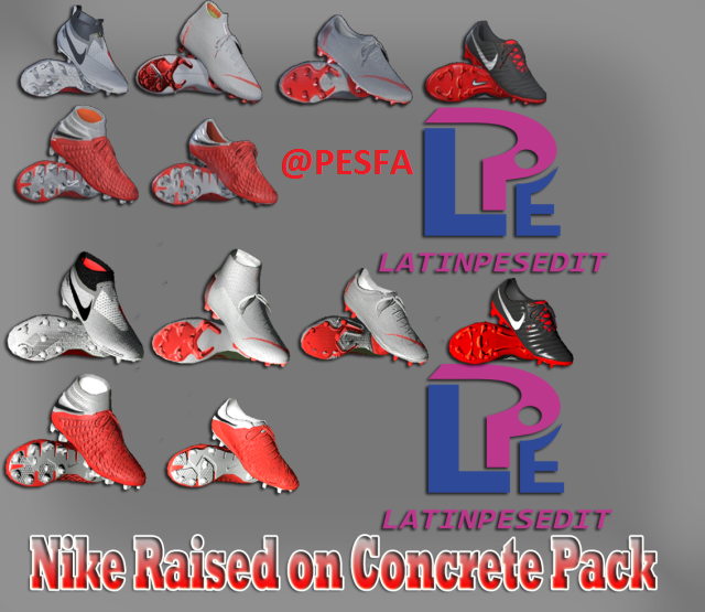پک کفش Nike Raised on Concrete توسط LPE برای PES 2017/18