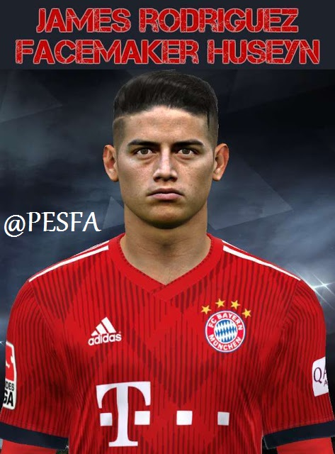 فیس James Rodríguez توسط Huseyn برای PES 2017