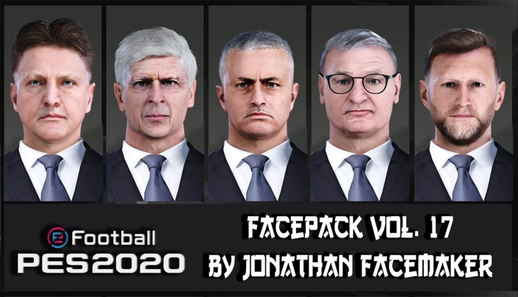 فیس پک مربی برای مسترلیگ توسط Jonathan Facemaker برای Pes 2020
